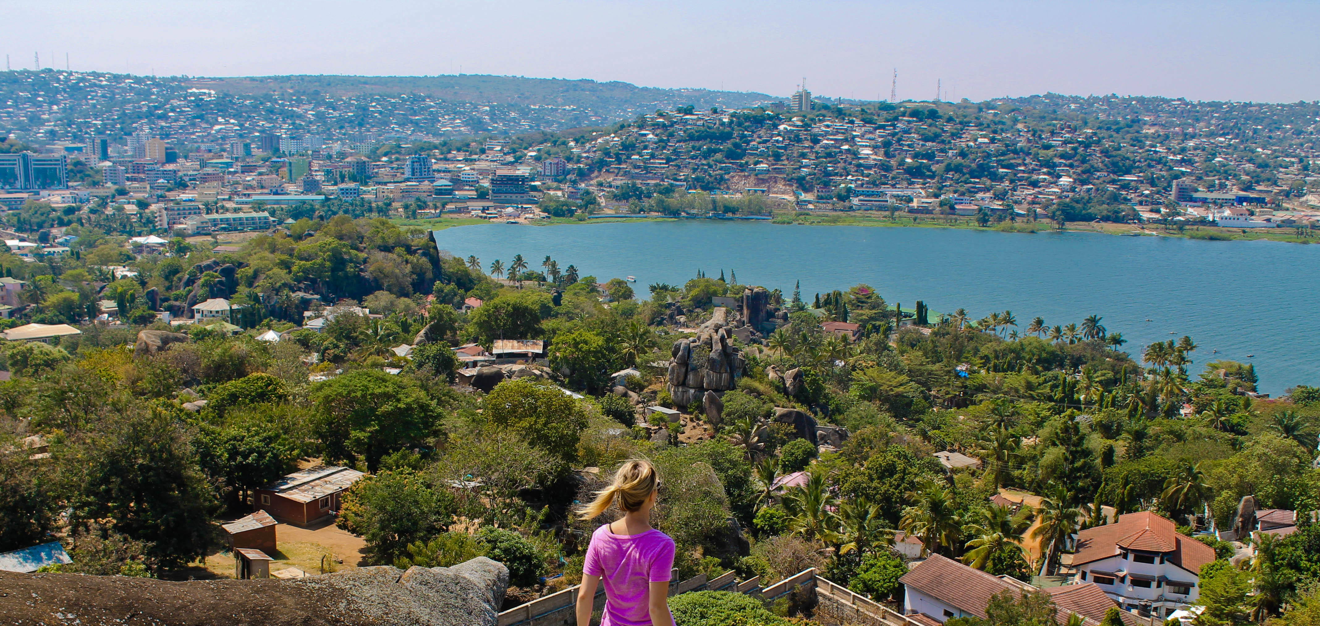the pink backpack travel blog- mwanza, tanzania photos overlooking lake victoria at capri point