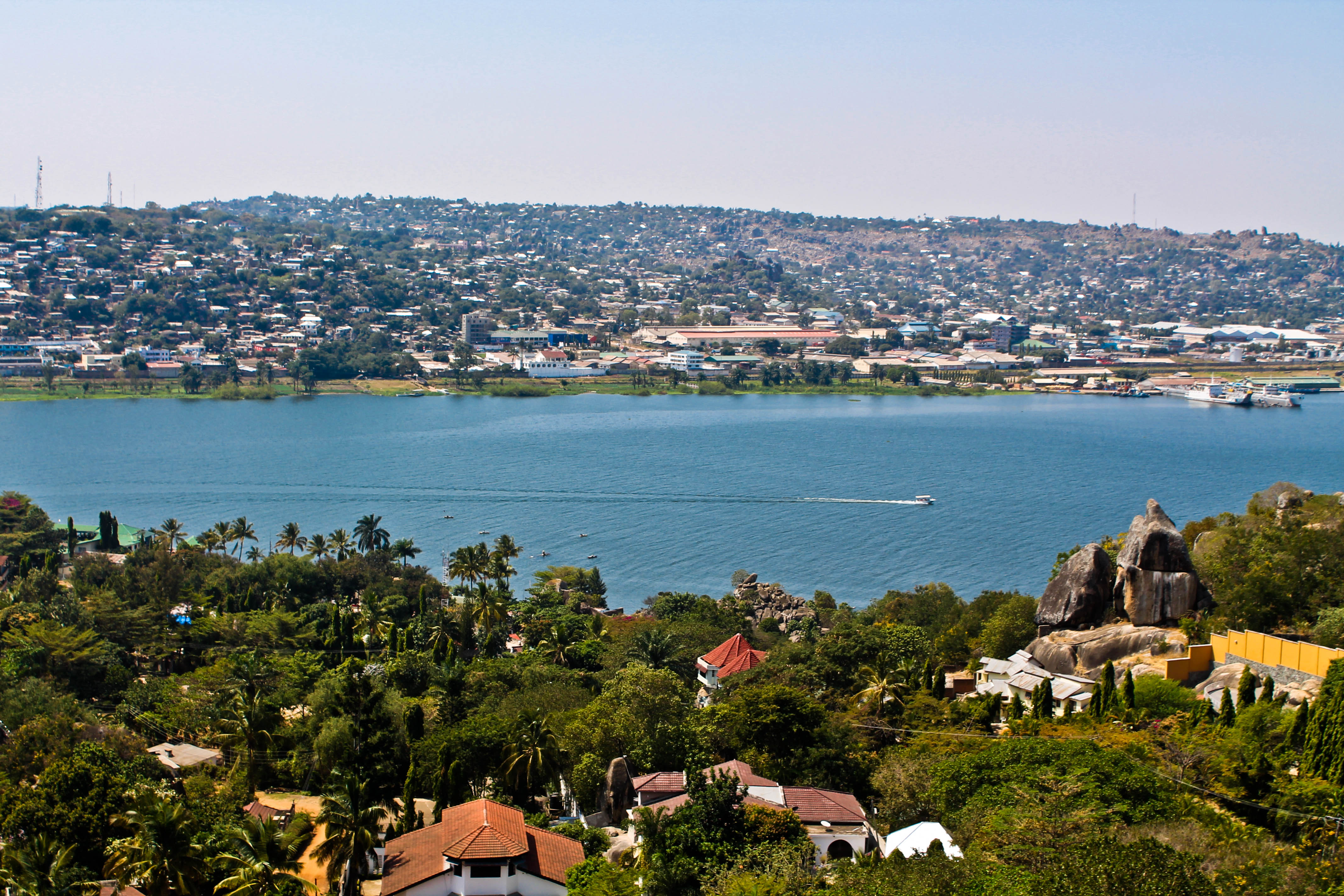the pink backpack travel blog- mwanza, tanzania photos overlooking lake victoria sunset