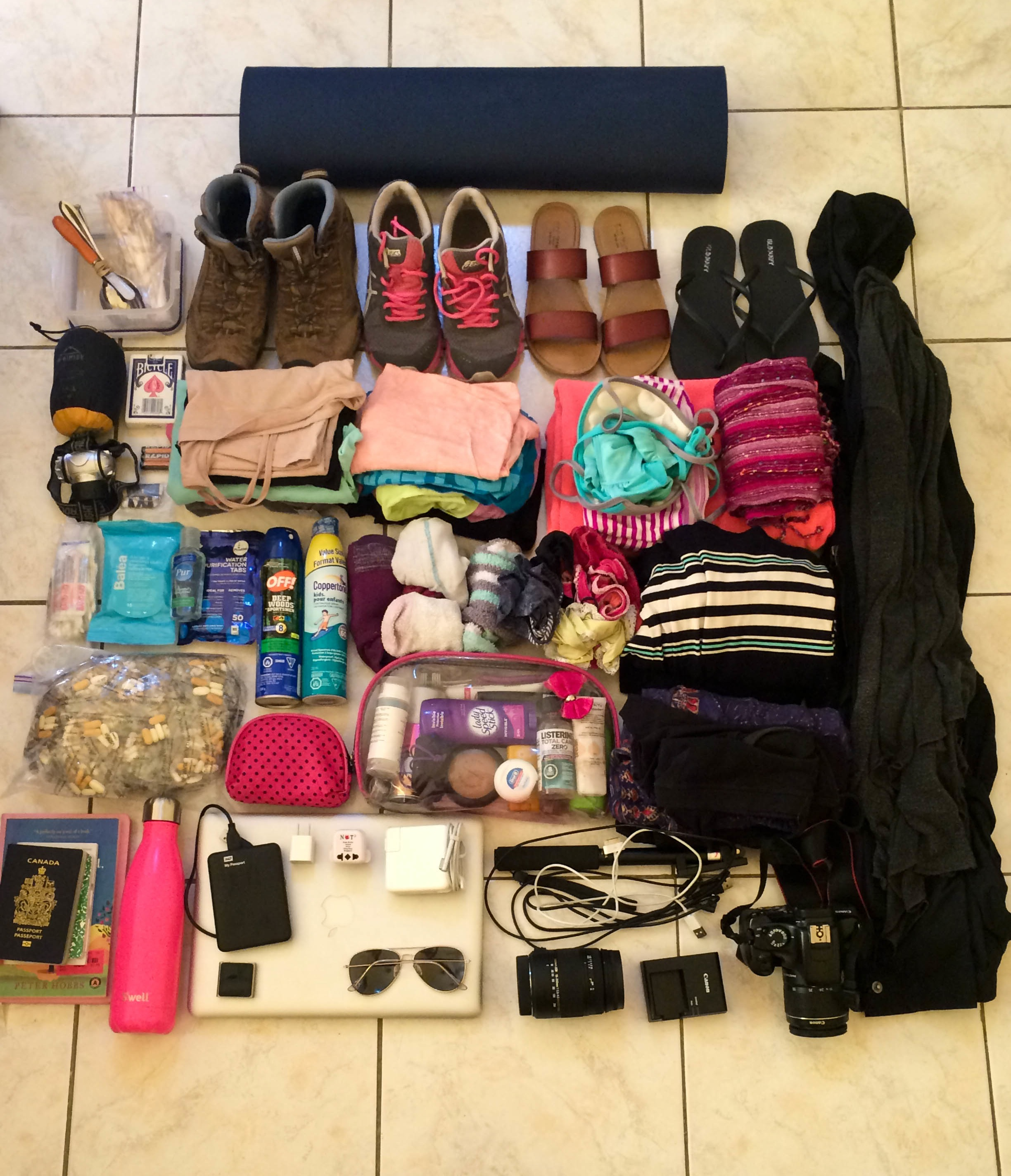 Packing guide 3 months - the pink backpack blog