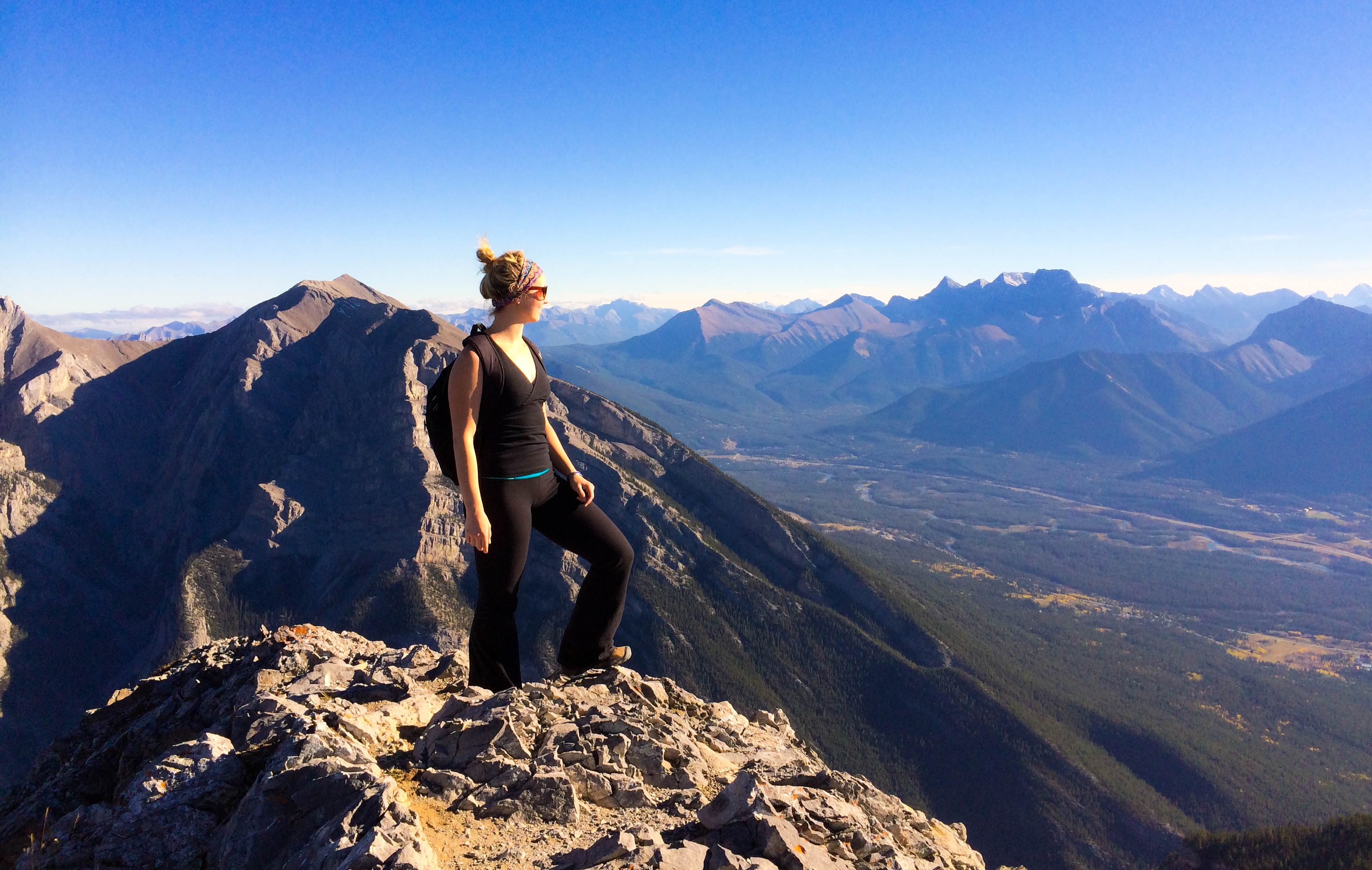 mount lady macdonald mountain hiking in canmore alberta canada
