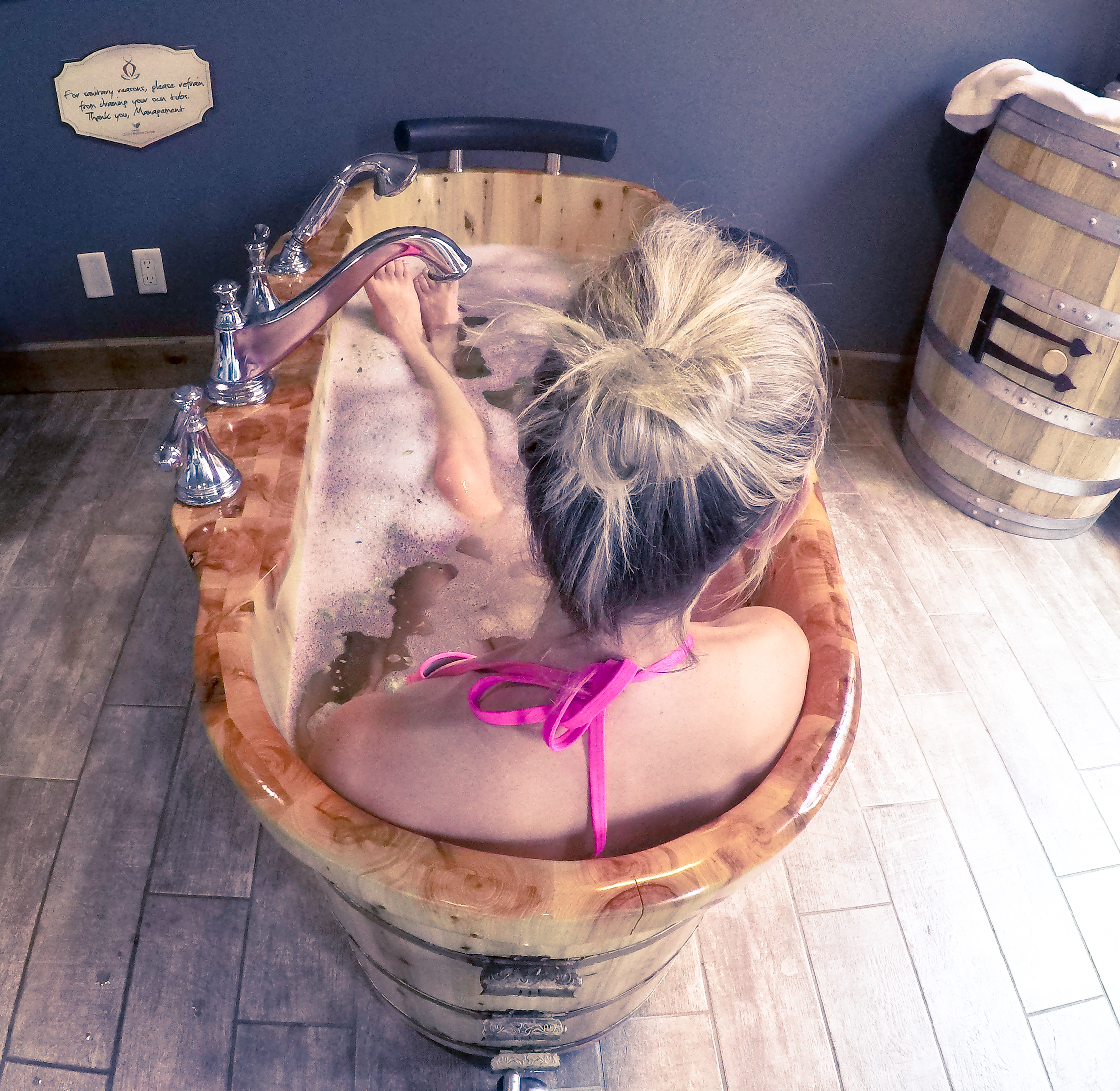 beer bath spa in Ontario the pink backpack travel and adventure blog