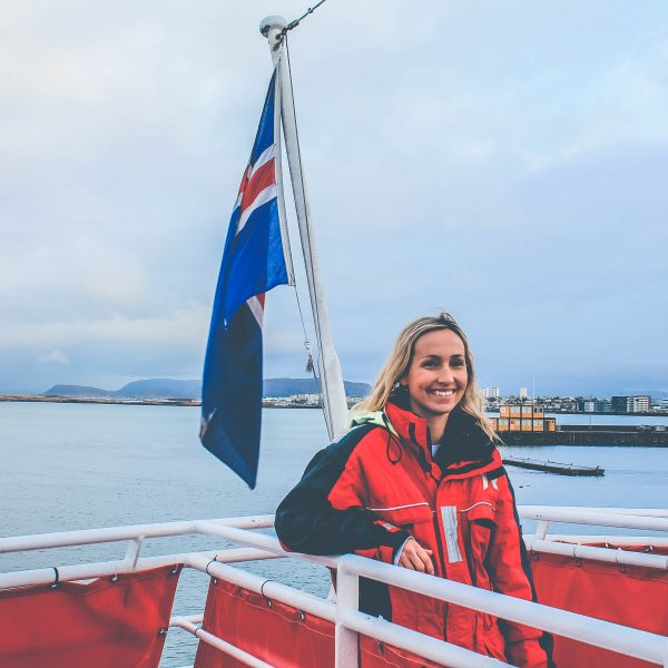whale watching with elding tours in reykjavik icealand - the pink backpack
