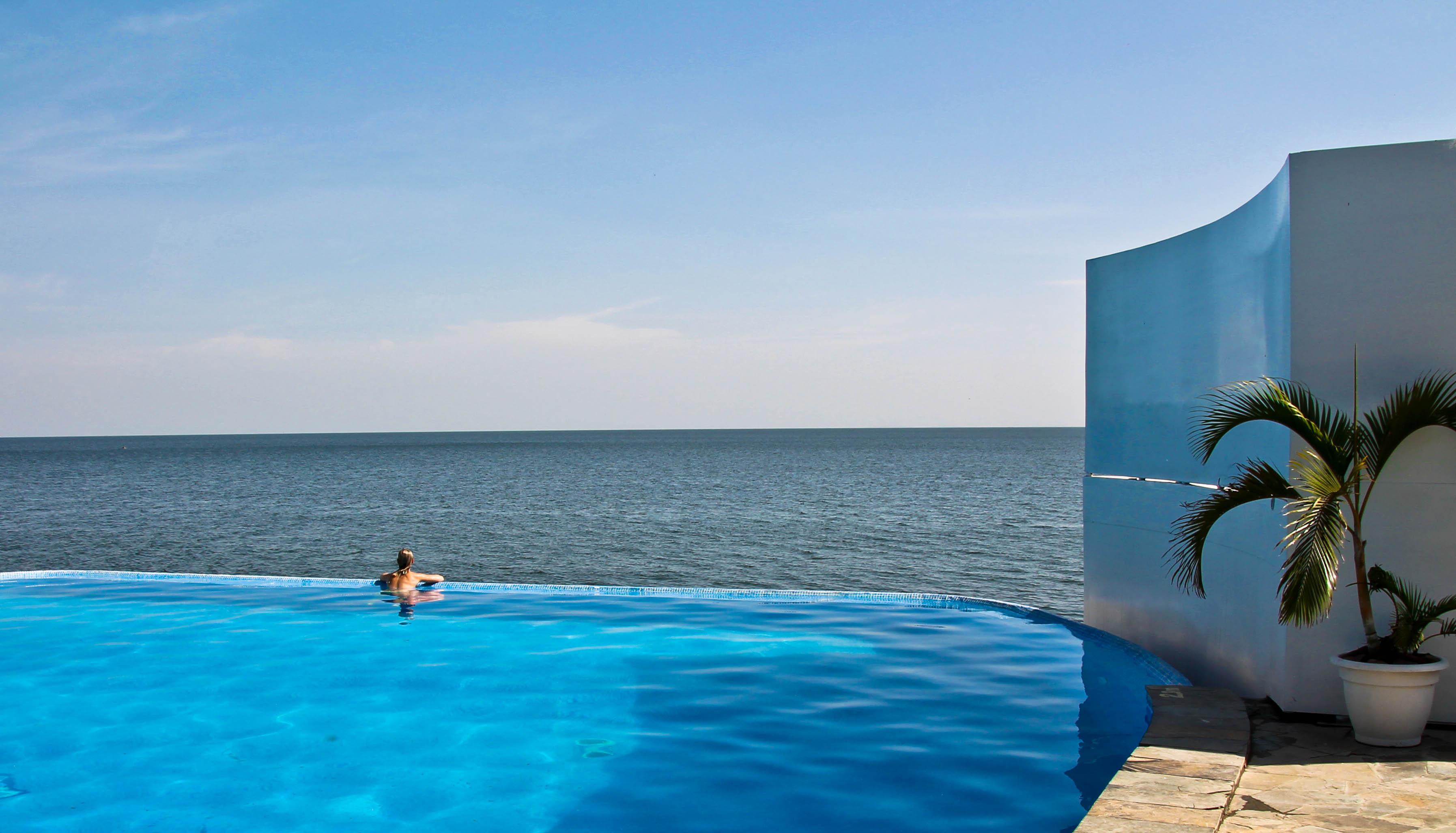 Malaika Beach resort infinity pool, mwanza tanzania