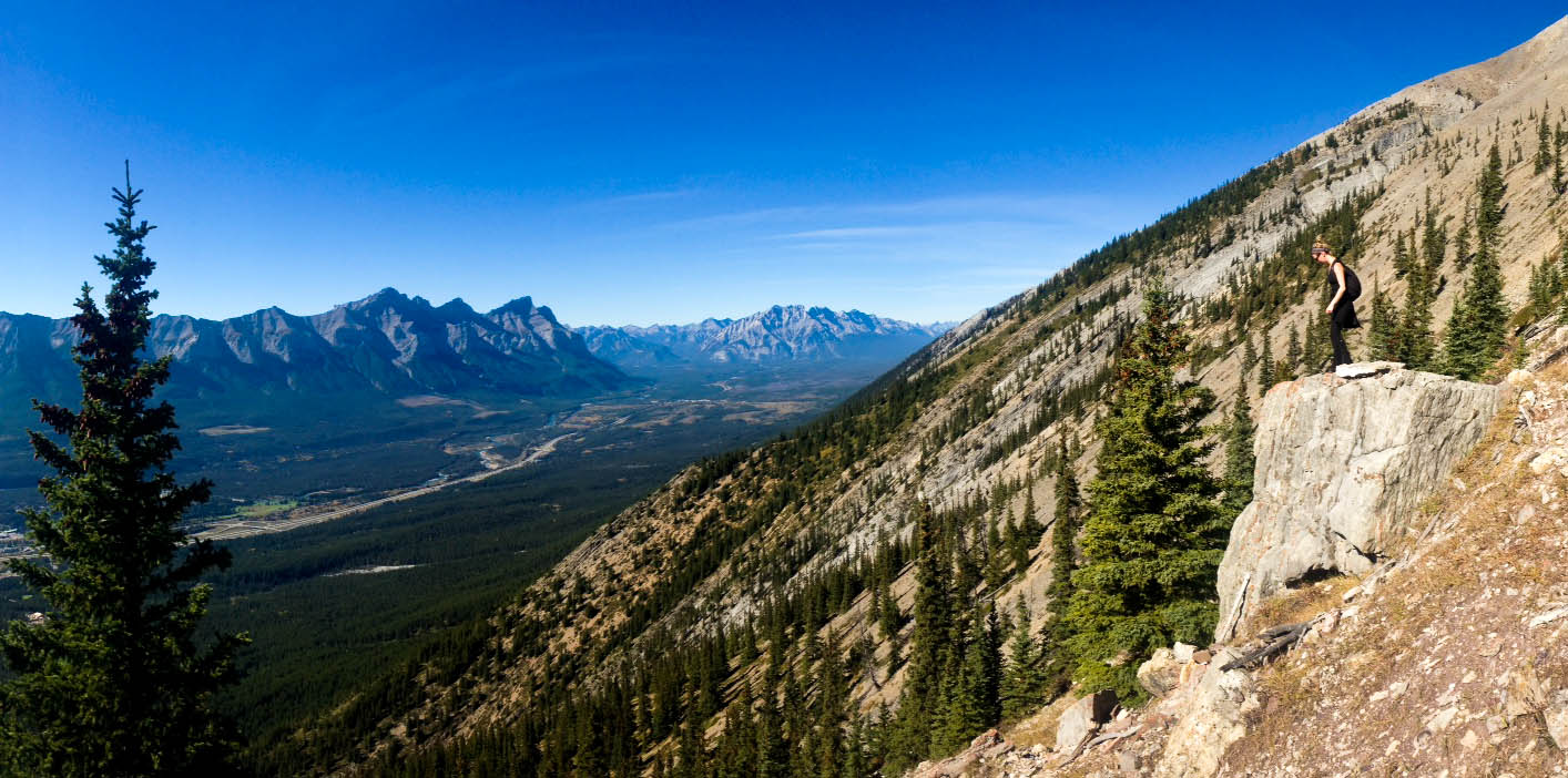 mount lady macdonald mountain hiking in canmore alberta canada