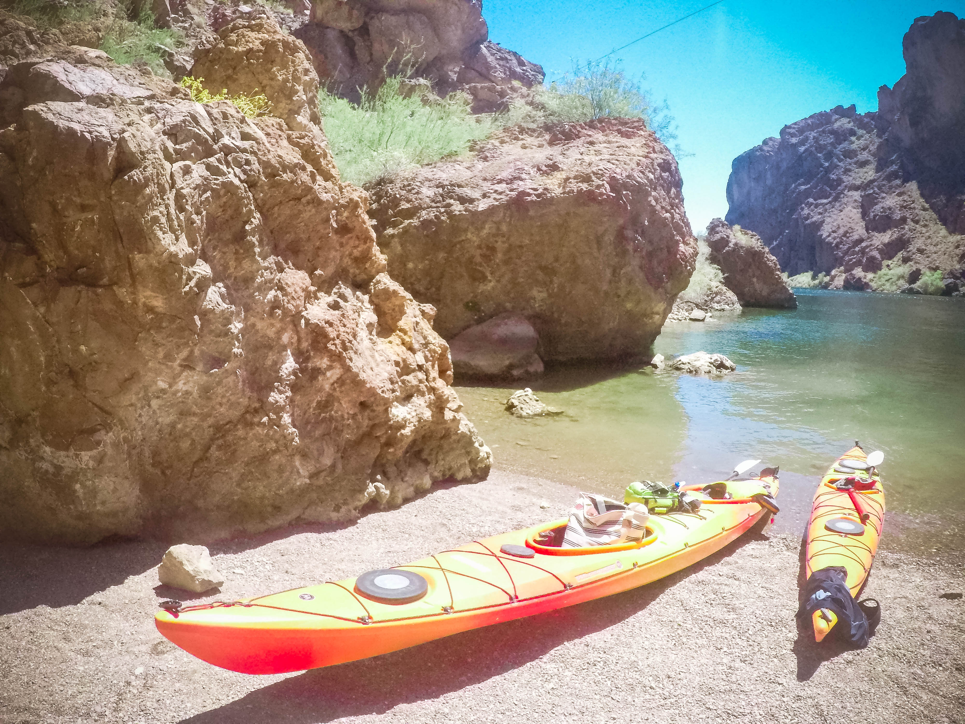 kayaking the black canyon with Blazin Paddles