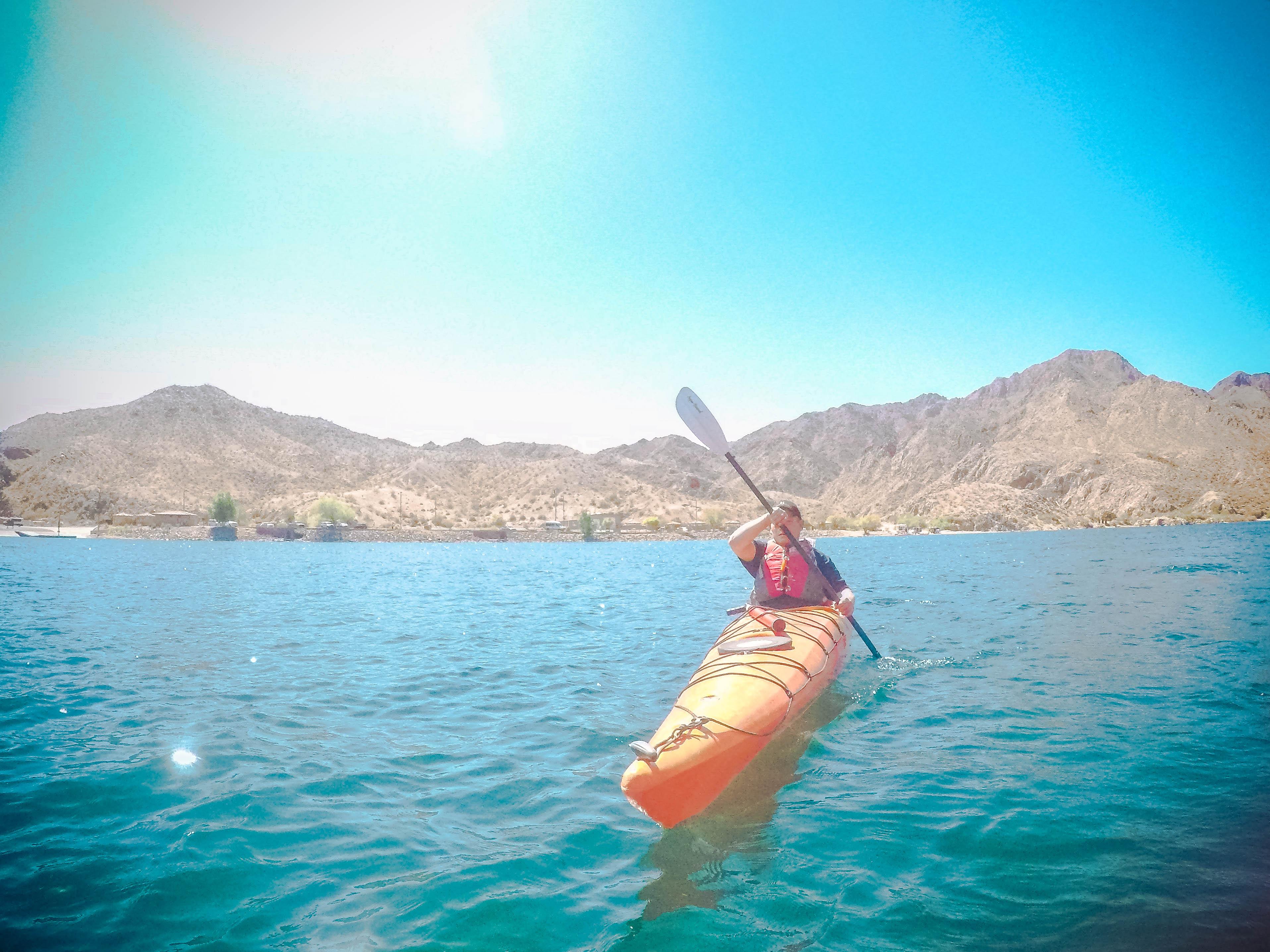 kayaking the black canyon on colorado river arizona